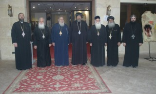 His Grace Bishop Ermia Receives the Greek Church's Delegation at the Coptic Orthodox Cultural Center