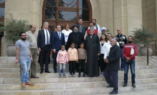 His Grace Bishop Ermia received the Hungarian Secretary of State and the Hungarian Ambassador in Egypt at the Coptic Orthodox Cultural Center