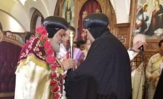 The Evening Prayers of Receiving His Grace Bishop Mikhail, the General Bishop of Hadayek al Quba, Al Waili and Manshiyet al Sadr Churches in Cairo, with the Presence of a Body of the Church's Bishops
