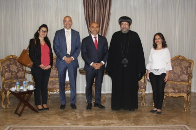 A delegation from the US Embassy visits The Coptic Orthodox Cultural Center