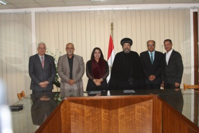 The Coptic Orthodox Cultural Center, signs, agreement, Egyptian Global Gate (EG Gate), cooperate, field, documenting, Egyptian and Coptic heritage, latest technology