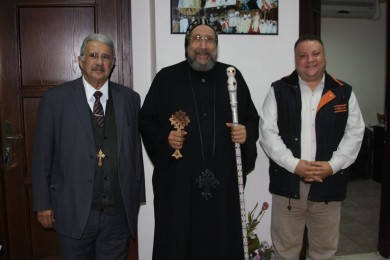 HG Bishop Ermia, receives, Director General of the Antiquities Authority, the Coptic Orthodox Cultural Center