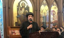 نيافة الأنبا إرميا يلقى عظة خلال مشاركته فى صلاة الثالث للقمص بولس عبد المسيح