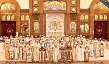 نيافة الأنبا إرميا يشارك في قداس سيامة 7 آباء أساقفة بكاتدرائية ميلاد المسيح بالعاصمة الإدارية الجديدة