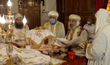 القداس الإلهي في التذكار التاسع لنياحة قداسة البابا شنوده الثالث من دير الأنبا بيشوي بوادي النطرون