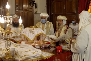 The Divine Liturgy of the ninth anniversary of the departure of the Triple Beatified His Holiness Pope Shenouda III from the Monastery of Saint Bishoy, Wadi Al-Natroun