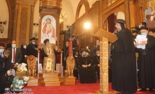 عشية تجليس نيافة الأنبا مكاريوس أسقفا للمنيا وتوابعها بكنيسة الأمير تادرس الشطبي بالمنيا