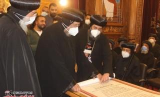 نيافة الأنبا إرميا يشارك في عشية تجليس نيافة الأنبا فيلوباتير أسقفا لإيبارشية أبو قرقاص