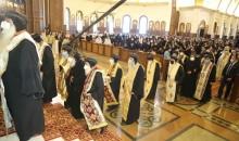 نيافة الأنبا إرميا يشارك في صلاة عشية سيامة 7 آباء أساقفة وتجليس اثنين بكاتدرائية ميلاد المسيح بالعاصمة الإدارية الجديدة