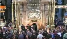 تغطية حصرية على قناة مى سات لظهور النور المقدس من كنيسة القيامة – أورشليم – القدس