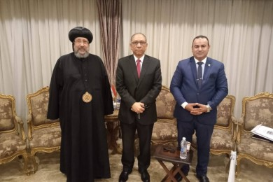 His Grace Bishop Ermia receives Dr. Tarek Tawfik, the Deputy Minister of Health and Population