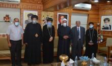 نيافة الأنبا إرميا وفضيلة الشيخ الدكتور محمد أبوزيد الأمير يدعون نيافة أنبا مكاريوس لمؤتمر بيت العائلة المصرية